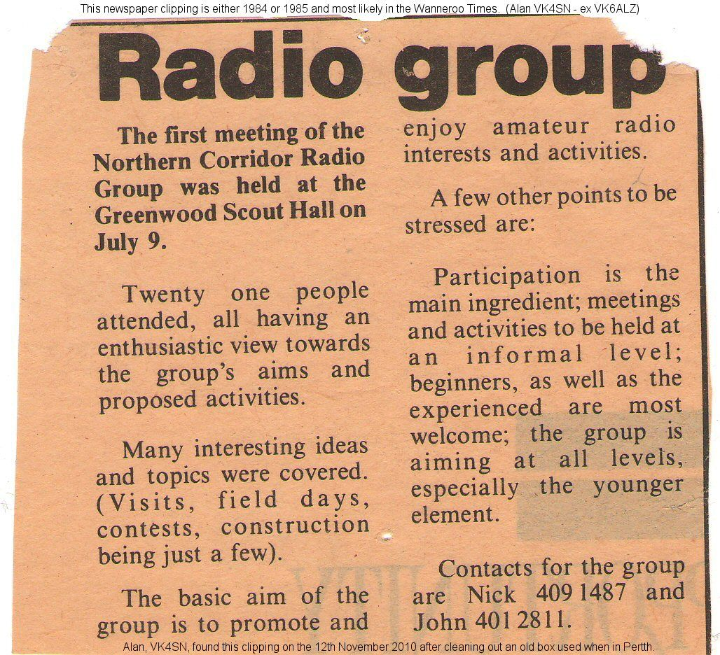 NCRG 1st meeting - Original clipping